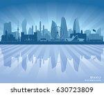 baku azerbaijan city skyline... | Shutterstock .eps vector #630723809