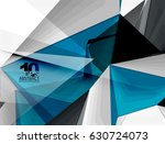 low poly geometric 3d shape... | Shutterstock .eps vector #630724073