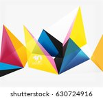 3d triangles geometric vector... | Shutterstock .eps vector #630724916