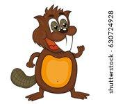 cartoon beaver.  vector clip... | Shutterstock .eps vector #630724928