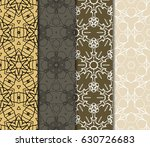set of 4 vertical e seamless... | Shutterstock .eps vector #630726683