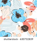 doodles with grunge texture... | Shutterstock .eps vector #630732839
