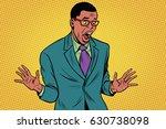 shocked african american... | Shutterstock .eps vector #630738098