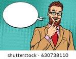 smiling bearded hipster... | Shutterstock .eps vector #630738110