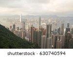 victoria peak tram  hong kong   ... | Shutterstock . vector #630740594