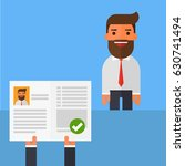approved a business man to the... | Shutterstock .eps vector #630741494