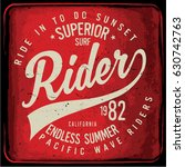 vintage surfing graphics and... | Shutterstock .eps vector #630742763