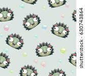 funny seamless pattern with... | Shutterstock .eps vector #630743864