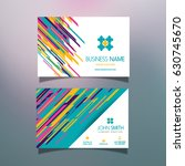 business card template with... | Shutterstock .eps vector #630745670