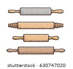 rolling pin illustration ... | Shutterstock .eps vector #630747020
