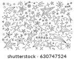 stars hand drawn doodle star...   Shutterstock .eps vector #630747524