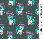seamless pattern with beautiful ... | Shutterstock .eps vector #630747533