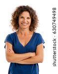 smiling middle aged woman with... | Shutterstock . vector #630749498