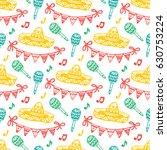 mexico seamless pattern.... | Shutterstock .eps vector #630753224