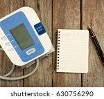 blood pressure measurement with ... | Shutterstock . vector #630756290