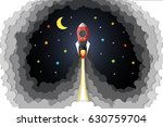 the rocket in the air  paper... | Shutterstock .eps vector #630759704