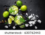 refreshing mint cocktail mojito ... | Shutterstock . vector #630762443