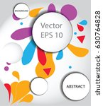 modern vector background ... | Shutterstock .eps vector #630764828