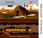process of coal mining ... | Shutterstock .eps vector #630767600