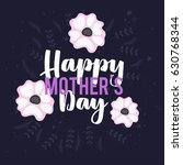mothers day lettering overlays... | Shutterstock .eps vector #630768344