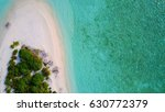 tropical island white sand... | Shutterstock . vector #630772379