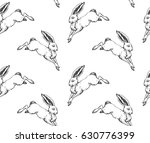 seamless pattern with hand... | Shutterstock .eps vector #630776399