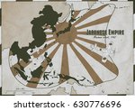 hand drawn map of japanese... | Shutterstock . vector #630776696