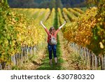 woman tourist walking in tuscan ... | Shutterstock . vector #630780320