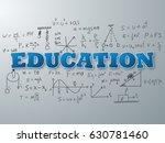 education word on light blue...   Shutterstock .eps vector #630781460