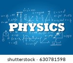 physics word on light blue... | Shutterstock .eps vector #630781598