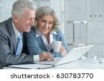 pair of senior businesspeople... | Shutterstock . vector #630783770