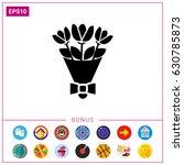 flower bouquet icon   Shutterstock .eps vector #630785873