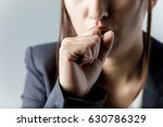 coughing woman. catching a cold.... | Shutterstock . vector #630786329