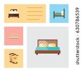 flat bed set of bed  mattress ... | Shutterstock .eps vector #630786539