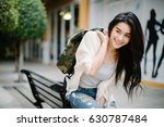 young smiling asia woman... | Shutterstock . vector #630787484