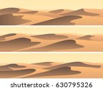 set of horizontal banners sandy ... | Shutterstock .eps vector #630795326
