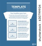 newsletter corporate vector... | Shutterstock .eps vector #630799934