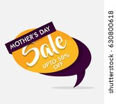 mother's day sale  tag  poster  ... | Shutterstock .eps vector #630800618