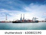 logistics and transportation of ... | Shutterstock . vector #630802190