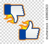 satisfied and disappointed icon.... | Shutterstock .eps vector #630802823