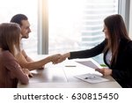 young smiling couple visiting... | Shutterstock . vector #630815450