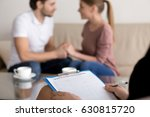 successful therapy session with ... | Shutterstock . vector #630815720