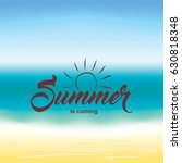 summer greeting text on summer... | Shutterstock . vector #630818348