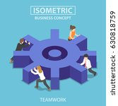 flat 3d isometric business team ... | Shutterstock .eps vector #630818759