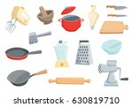 kitchen utensils set.... | Shutterstock .eps vector #630819710