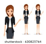 business woman in different... | Shutterstock .eps vector #630825764