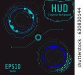 hud futuristic interface...