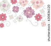 vector illustration of a floral ... | Shutterstock .eps vector #630836120