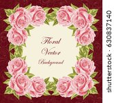beautiful floral frame for... | Shutterstock .eps vector #630837140