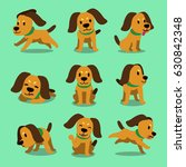 vector cartoon character dog... | Shutterstock .eps vector #630842348